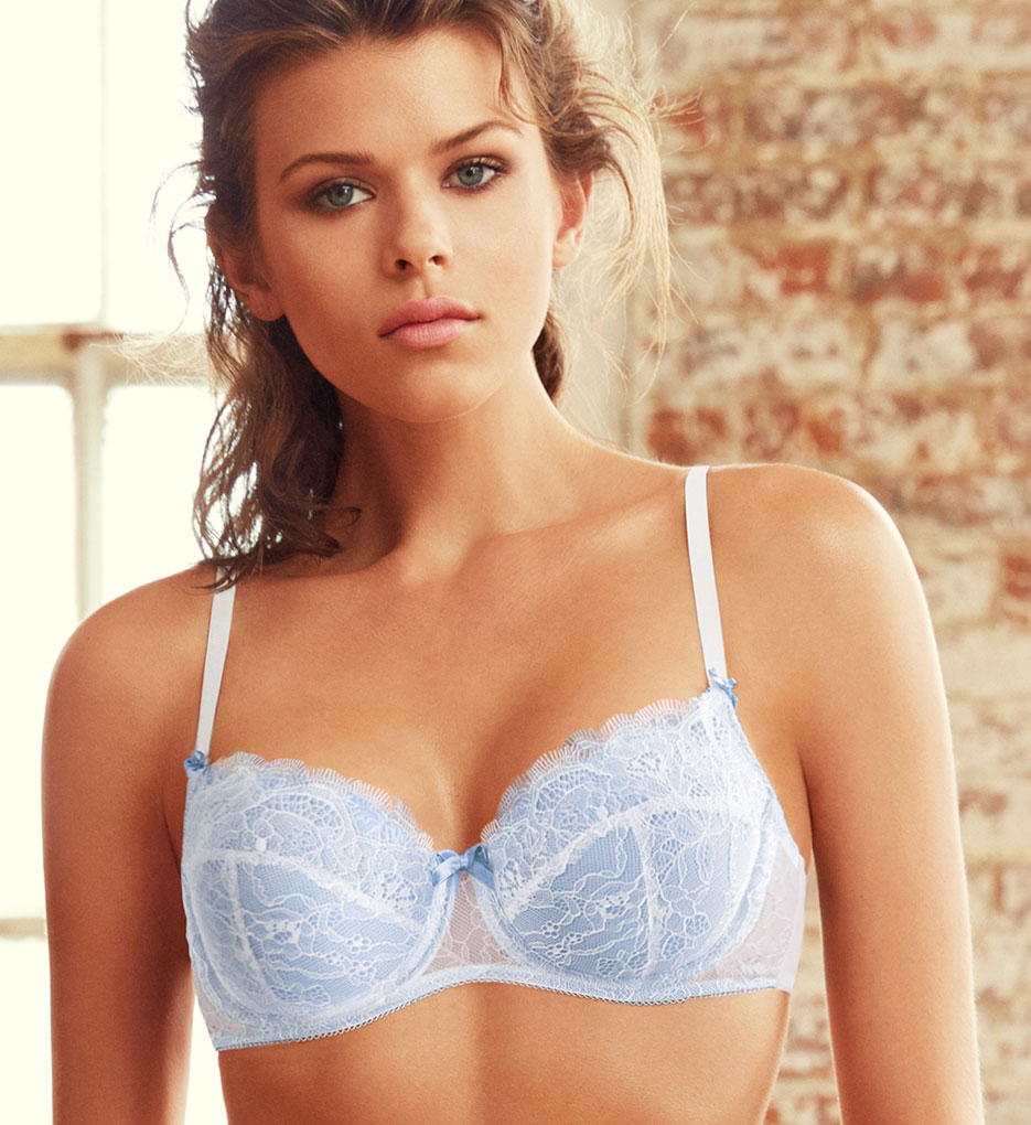 B.Tempt'd Bridal Bra White, Bridal Blue