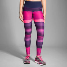 Brooks Legging Greenlight Stripe