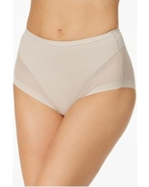 Leonisa Firm Control Mesh-Banel Brief - Beige
