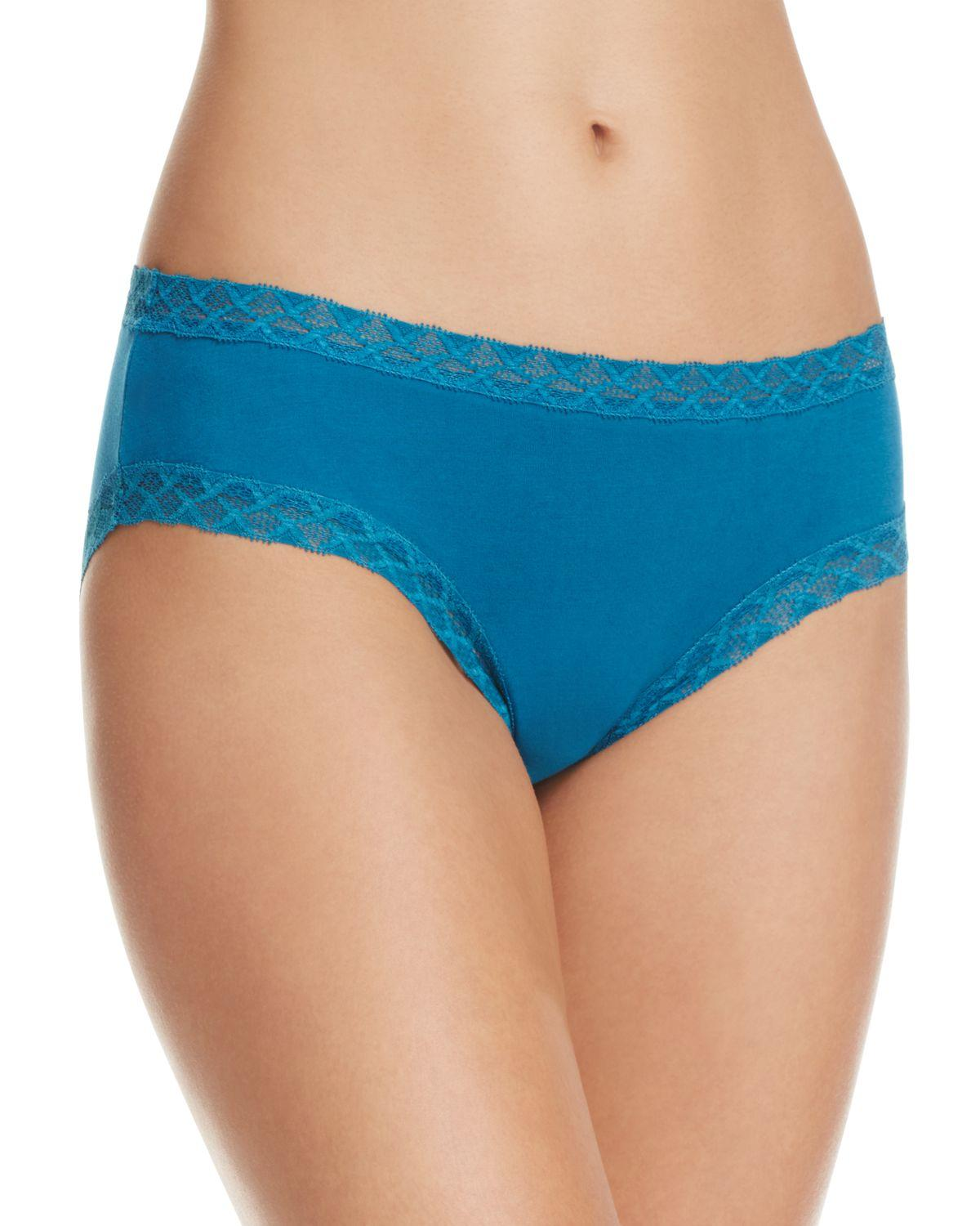 Natori Bliss Cotton Panty - Nude, Black, Blue