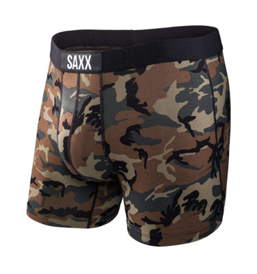 Saxx Vibe Brief Brown Camo