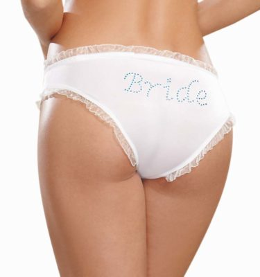 Dreamgirl Bridal Panty - White