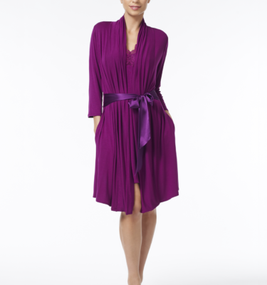 Fleur't Take Me Away Robe - Deep Orchid