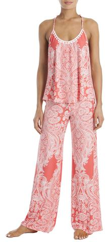 In Bloom Lounge Pant Set - Coral