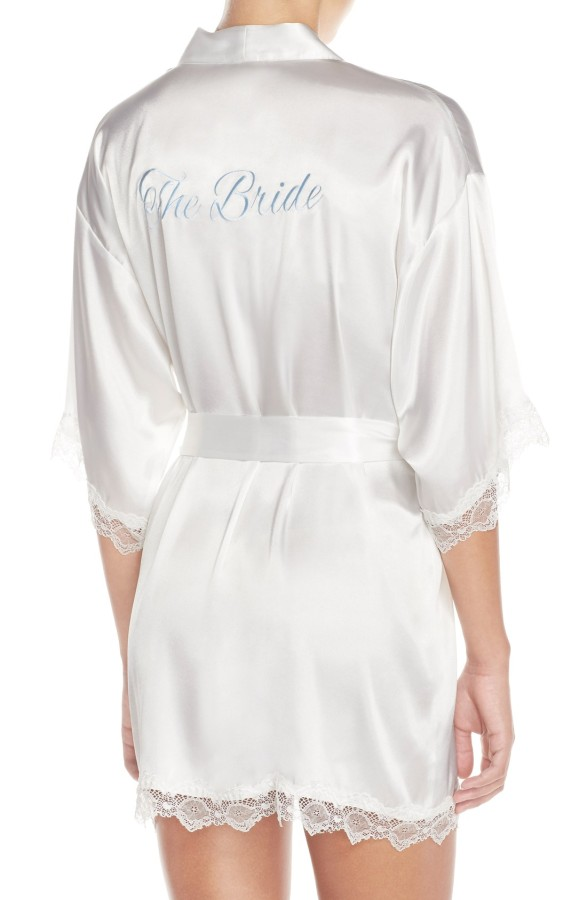 In Bloom Robe the Bride - White, Bridal Blue
