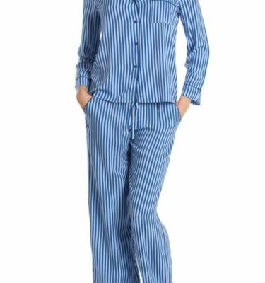 In Bloom Stripe Pajama Set - Blue