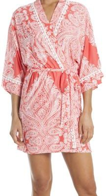In Bloom Wrap Robe - Coral