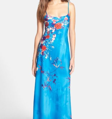 Natori Nadja Long Satin Nightgown