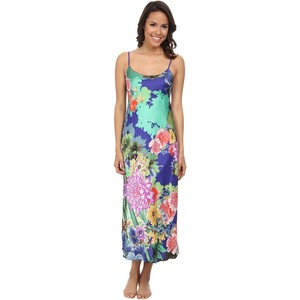 Natori Tahiti Long Satin Nightgown